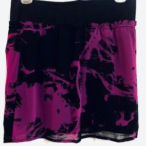 DKNY Magenta/ Dark Purple/ Black Mini Skirt